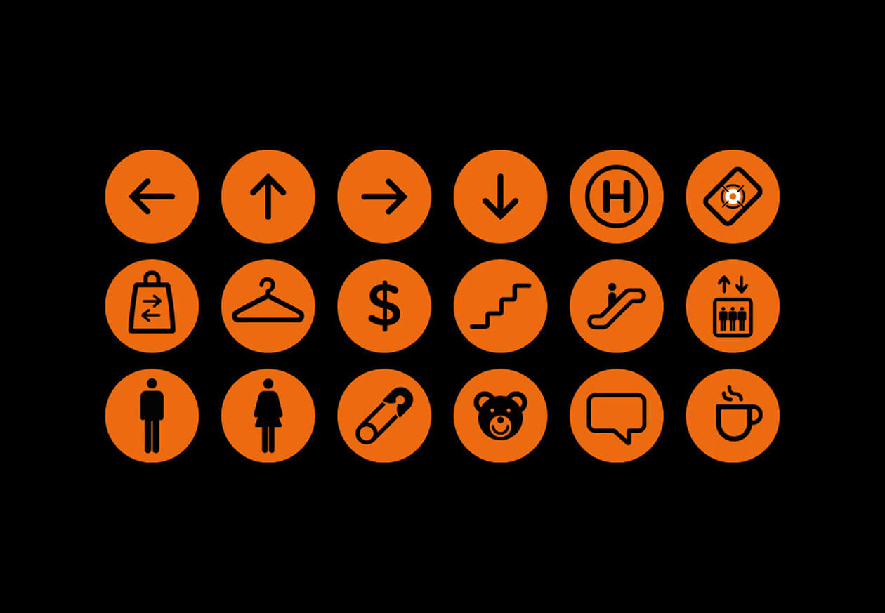 Torra | Wayfinding Icons | Sinalização Ícones
