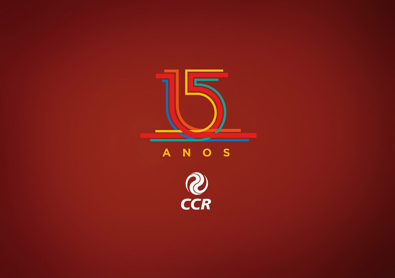 15 anos Grupo CCR | Selo | 15 years CCR Group | Seal